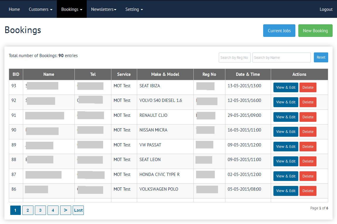 Online Booking Software -