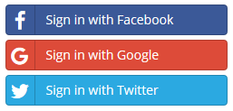 Sign-In to Client Area with your Facebook, Google or Twitter account